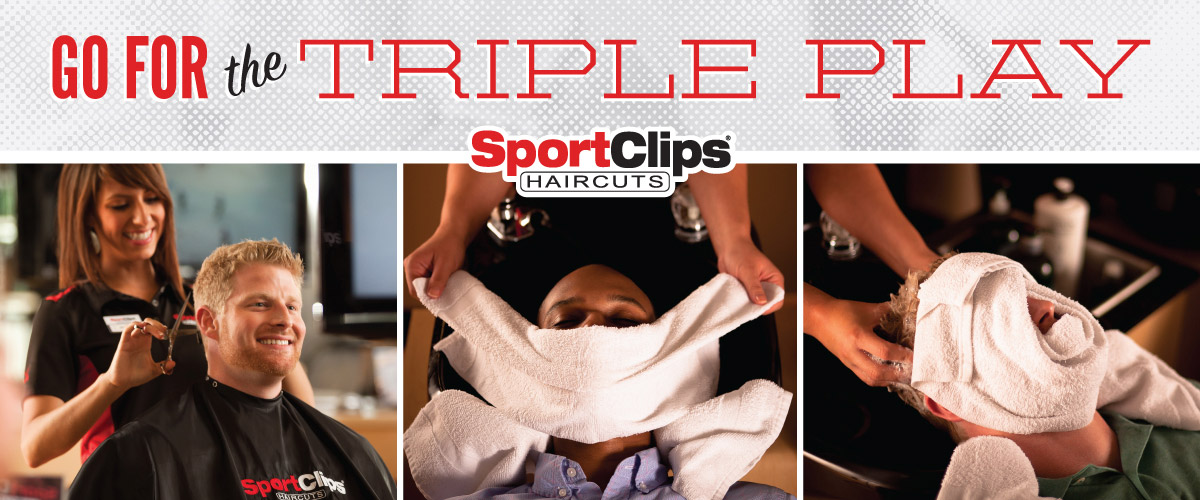 The Sport Clips Haircuts of Champaign - Old Farm Shops  Triple Play